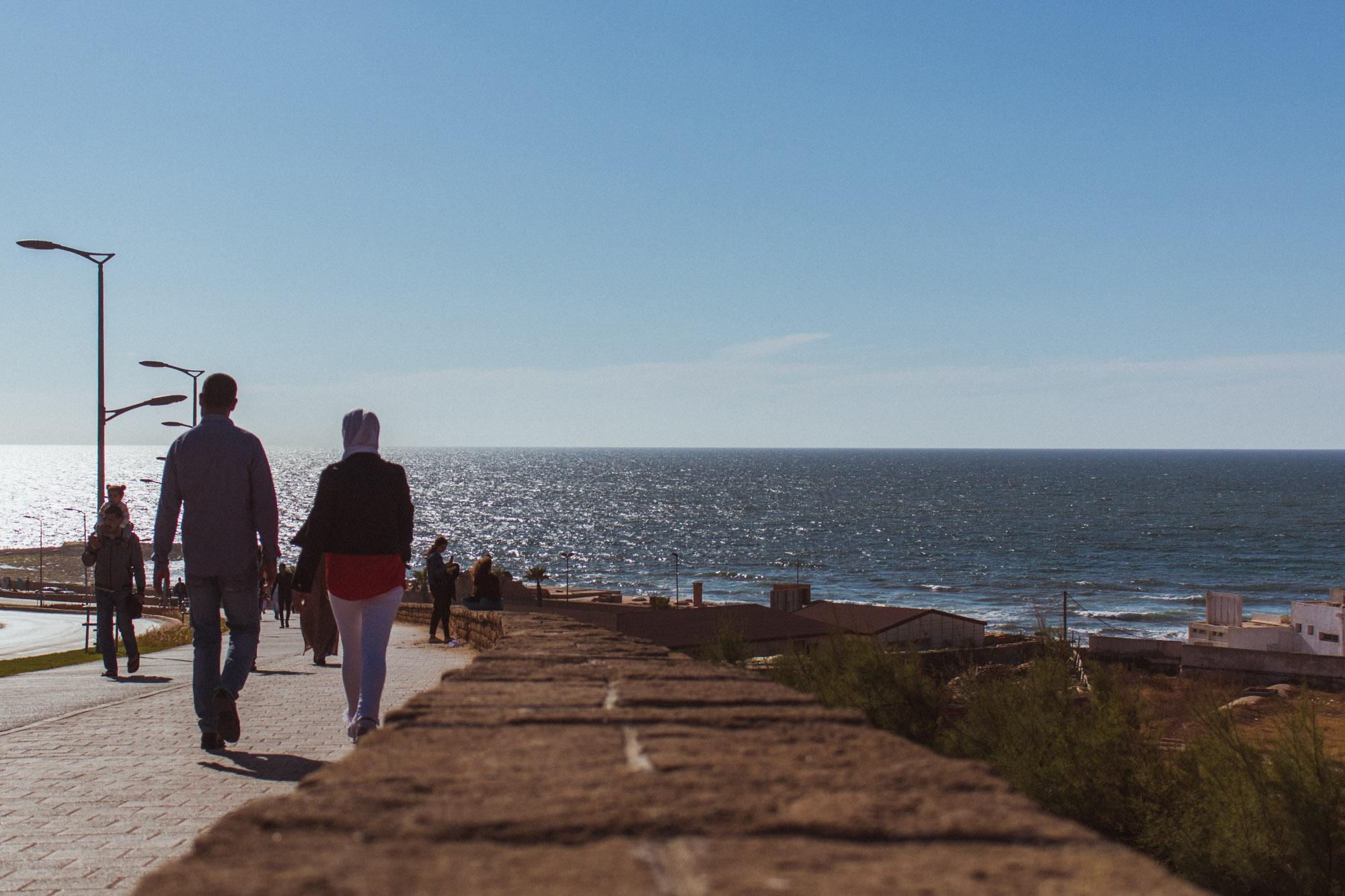 Promenade in Rabat, Marokko