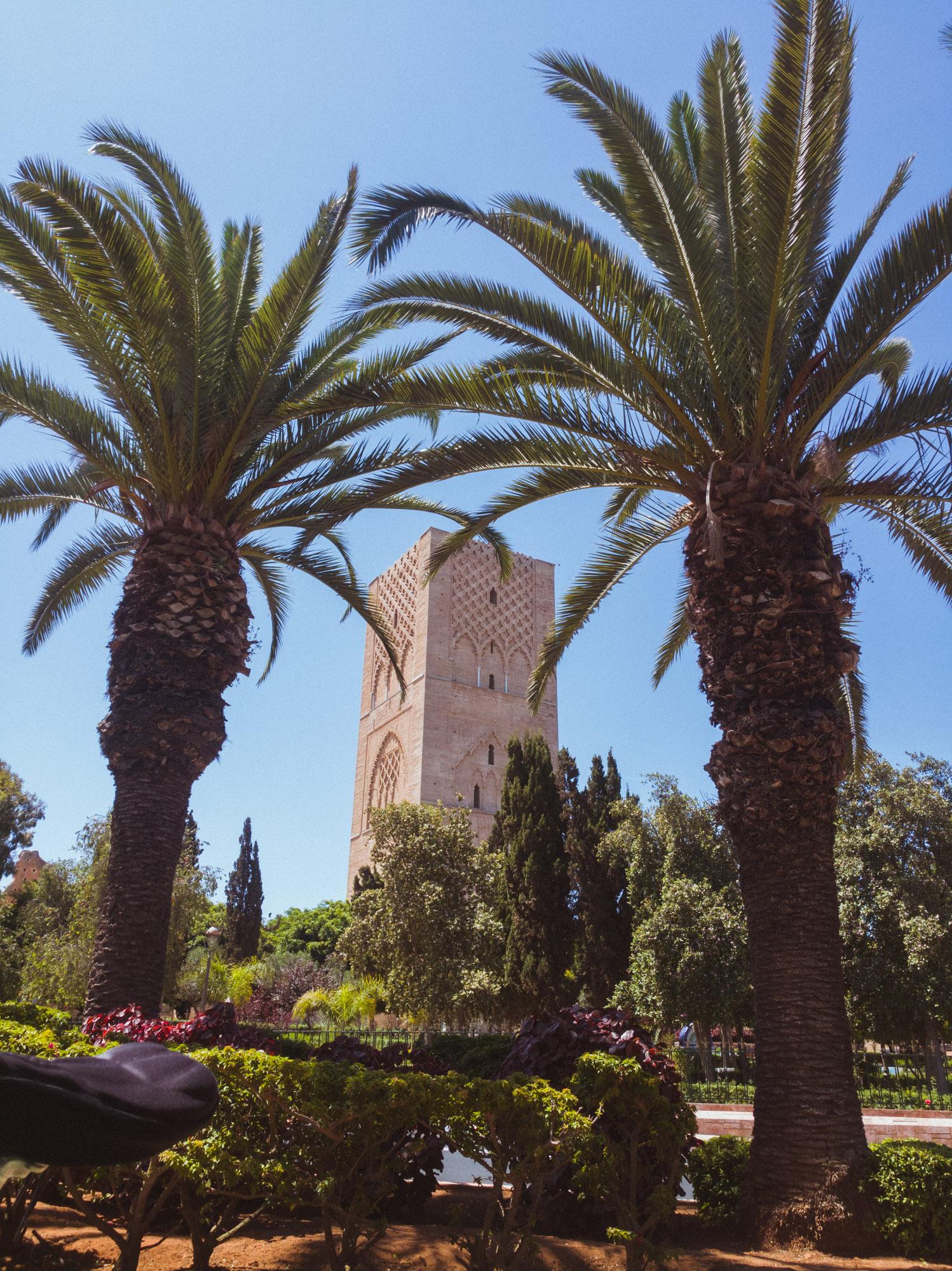 Hassan-Turm im Mausoleum von Mohammed V in Rabat, Marokko