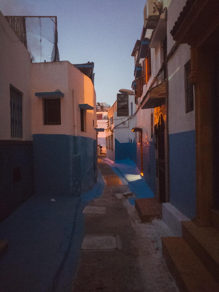 Kasbah von Rabat bei Abend in Rabat, Marokko