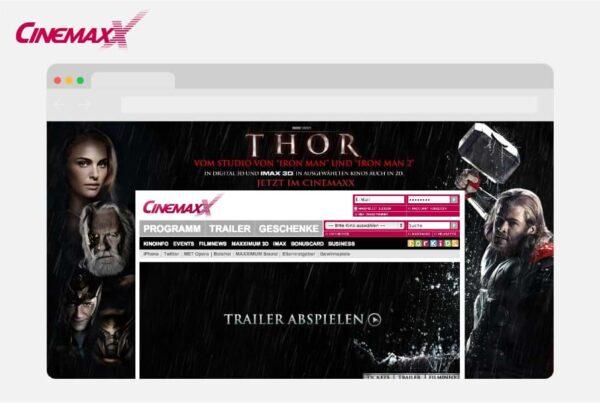 CinemaxX Website Projekt Titelbild Nico Pätzel