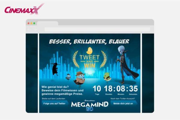 Tweet & Win CinemaxX Film-Quiz auf Twitter Megamind Edition | Nico Pätzel
