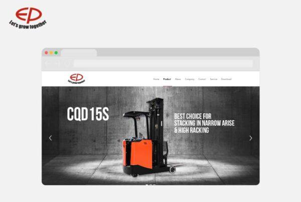 Wordpress Website konzeption Warehouse Trucks EP Equipment | Nico Pätzel