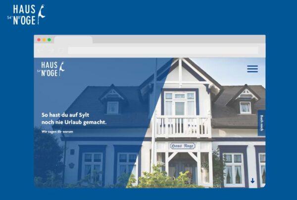 Haus Noge besonderes Gasthaus auf Sylt Website Konzeption | Nico Pätzel