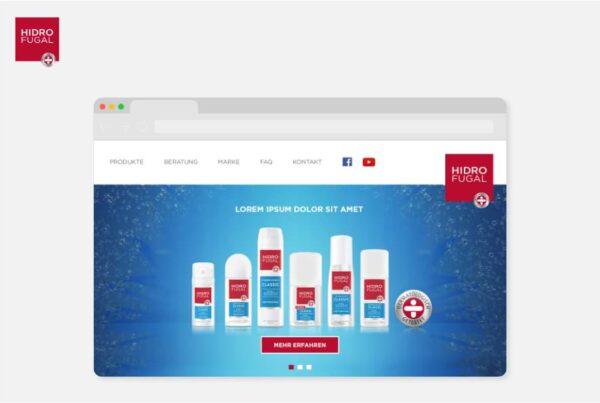 Hidrofugal Deo Produkte Website Konzeption und Design | Nico Pätzel