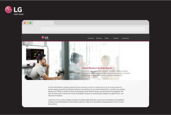 Website LG Electronics Computer Displays | Nico Pätzel